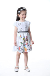 Wholesale China Kids Wear Wholesalers - cheap children's clothing from china guangzhou summer wear 2017 kid dress printd baby girl white frocks