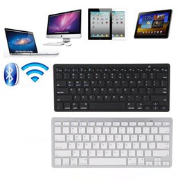 Wholesale Pc Microsoft - Ultra-slim Wireless Keyboard Bluetooth 3.0 for All Windows Android iOS PC Tablet ASUS VivoTab Note 8 Microsoft Surface HP Stream Dell Venue