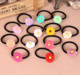 Wholesale Goddess Hair Band - The small summer holiday sweet clear new Daisy hairpin hair goddess temperament to send color random hair rope