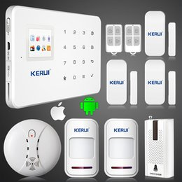 Wholesale Alarm System Sms Calling - LS111- KERUI G18 GSM SMS call Intelligent voice home alarm system vibration sensor smoke fire detector alarm