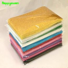 Wholesale Crafting Materials - Happyxuan 10pcs pack 20*30cm Eva Foam Glitter A4 Gold Powder Sponge Paper Handmade DIY Crafts Materials Kids