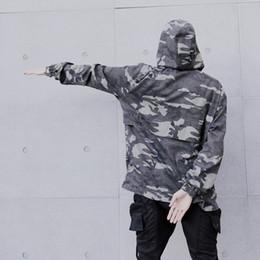 Wholesale Ring Pilot - 2017 Europe Autumn winter New Fashion Men's Hip Hop Camouflage Printing Iron Ring Chains Punk Jacket Swag Zipper Pilot Suit