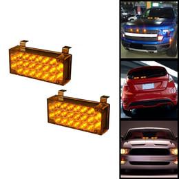 Wholesale Lamp Control Module - 1 Set 2x22-LED Flasher Light Emergency Vehicle Strobe Lamp Bars with Mounting Bracket + Control Module