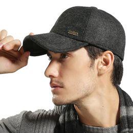 Wholesale Woolen Caps For Men - High Quality Warm Men Winter Hats Snapback Caps Baseball Solid Color Woolen Gorras Snapback Cap for Adult Dad Hat