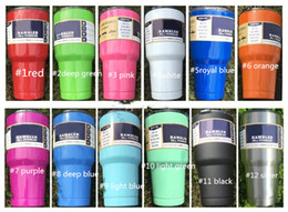 Wholesale Double Lens - New Hot 304 stainless steel tumbler Colorful Tumbler Cups 20oz 30oz Double Wall Vacuum Insulated Travel Mug with lid DHL Free