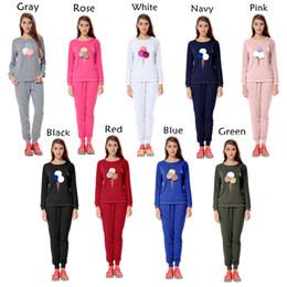 Wholesale Womens Cotton Yoga Pants - 2017 Spring Fashion Womens Suits Women Long Sleeve Tracksuit Casual Clothes wear Set Thin Yoga Clothes Top+Pants 2 Pieces