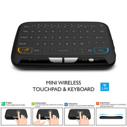 Wholesale Tablet Fly - Mini H18 Wireless Keyboard 2.4GHz Air Fly Mouse Remote Control Game Touchpad For Android TV Box Notebook Tablet Pc DHL