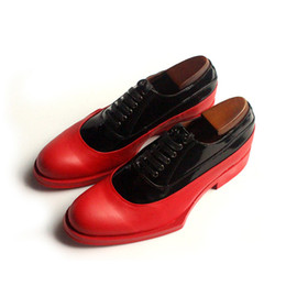 Wholesale Top Italian Shoes For Men - Italian designer Mixed Colors ens shoes top grade genuine leather lace up elegant casual flats shoes for men business customized