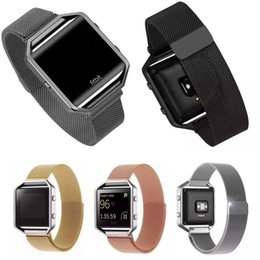 galaxie-gang passend Rabatt Großhandels-Hiqh Qualität Milanese Schleifen-Armband-Magnetverschluss-Edelstahl-gemaschter Uhrenarmband-Bügel für Fitbit Blaze geben Verschiffen frei
