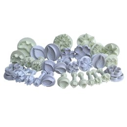 Wholesale Leaf Cookie Cutter Set - 32 Pcs,(10 Sets ) Cake Tools Plunger Cutters Sugarcraft Cake Decorating (Heart, Veined Butterfly, Star, Veined Rose Leaf ,Carnation, snowfla