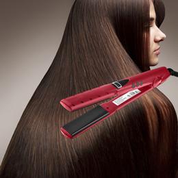 2019 raddrizzatori per capelli neri Prezzo scontato Ferro Piastre per capelli professionale in stile Salon con display LCD Pink Dazzle articolo popolare di ottima qualità