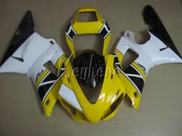 noir jaune yamaha r1 Promotion Kit de carénage en plastique gratuit pour yamaha YZF R1 1998 1999 carénage jaune blanc noir