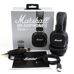 Wholesale Girls Wireless Headphones - Marshall Major II 2.0 Bluetooth Wireless Headphone in Black Headset Universal High quality Girls Headphones