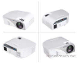 Wholesale Tv Projectors For Sale - Wholesale- Hot Sale Mini LED HD Video Projector 2200 Lumens 800*480 Support 1080P Multimedia for TV Home Theater Business Travel Outdoor