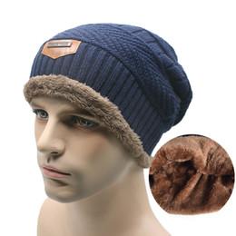 Wholesale Hockey Brand Hats - 2016 Brand Beanies Knit Men's Winter Hat Caps Skullies Bonnet Winter Hats For Men Women Beanie Fur Warm Baggy Wool Knitted Hat