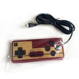 Manejar consolas de juegos online-8 bits Game Gaming con cable Controlador PAD Gamepad FC Consola del sistema Classic Style 1.5 metros mango