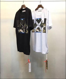 Wholesale Black Striped Long Sleeve Shirt - New 2017 Off White Brand Tee With the Off white Tags Religious Jesus Virgil Abloh Brand T-shirt Black White Color 532