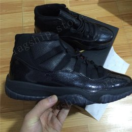Wholesale White Plush Cat - Black Devil Air 11 Retro High Mens Basketball Shoes White Cat OVO 23 Jump man Sports Shoes Size US7-13 Free Shipping