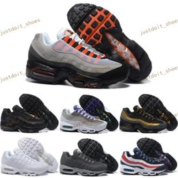 Wholesale Drop Ship Boots - Drop Shipping Wholesale Running Shoes Men Air Cushion 95 OG Sneakers Boots Authentic 95s New Walking Discount Sports Shoes Size 40-46