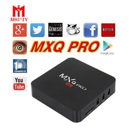 Wholesale Mx2 Box - 2018 Hot MX2 MXQ PRO Sports Movies videos Rockchip Rk3229 Android 6.0 TV BOX KD 16.1 Fully Loaded 4K 2.4G WIFI Streaming Media Players