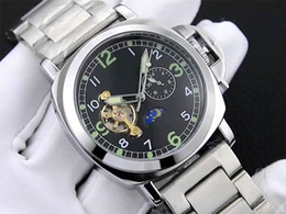 Wholesale Butterflies Clock - 2017 Men watch Mechanical Automatic Luxury Watches Tourbillon Stainless Steel Band Top Brand Business Wristwatches for men relojes clock
