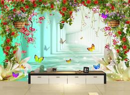 Estudio de la boda de fondo wallpaper online-3D pared murales de papel tapiz personalizado imagen mural de papel de pared Dream flores en forma de corazón racimo estudio boda TV de fondo pared decoración para el hogar