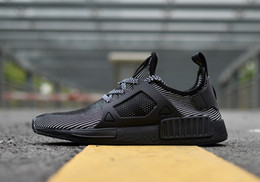 Wholesale Body Spikes - New Men XR1 NMD Black Grey Running Boost Adult Burgundy Duck Camo Primeknit Run Sneaker Shoes 40-45 With Box