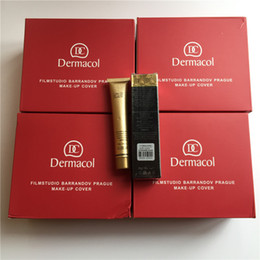 Wholesale Wholesale Waterproof Boxes - Red big box Dermacol Base Make up Cover 30g Dermacol Primer Concealer Base Waterproof Professional Face Dermacol Makeup Foundation Palette