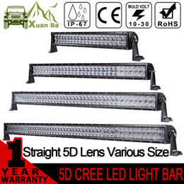 Wholesale Led Driving Lights 4wd - XuanBa 5D 52 Inch 500W CREE LED Light Bar For 4x4 OffRoad Trucks Tractor SUV ATV 4WD 12V 24V Combo 400W Led Work Driving Off Road Bar Lights