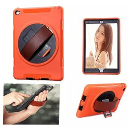 Wholesale Leather Shell Pouches - Kickstand 360 Degrees Rotating Leather Belt Handheld Shockproof Case Hybrid Colorful Protective Cover for iPad 2 3 4 5 6 Air Air2