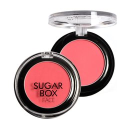 makeup brushes colour Promo Codes - Wholesale- Sugar Box Brand 8 Colours Sweet Peach Blush Face Palette New Make Up Blusher Sleek Rouge Cosmetics With Makeup Brushes KJDSB012