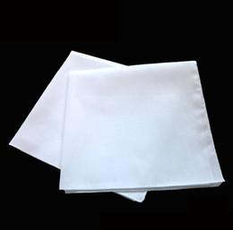 2019 quadrados de bolso de algodão por atacado Atacado lenço branco, lenço quadrado branco liso, pode amarrar pintura corante DIY impressão, 40X40 CM frete grátis