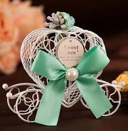 Wholesale Carriage Wedding Favours - fashion Europe iron carriage candy box, baby favour Love candy box, wedding candy box free shipping 100 pcs lot