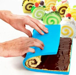 Wholesale Swiss Liner - FOOD GRADE Silicone Baking Mat DIY Multifunction Cake Pad Non-Stick Oven liner Swiss Roll Pad Bakeware Baking Tools 507