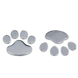 Wholesale Dog Footprint 3d Car Sticker - 500Pairs Car Sticker 3D Puppy Dog Paw Footprint Vinyl Decal For Car Truck Noteboo
