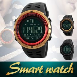 Wholesale Wristwatch Waterproof Camera - SKMEI 1250 Smart Watch Sports Watch Bluetooth Waterproof Reminder Digital Wristwatches for Android IOS with Retail Package