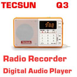 Wholesale Pocket Stereo Radio - Wholesale-Free Shipping TECSUN Q3 FM Stereo Pocket Size Recorder MP3 Player Radio FM