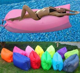 Wholesale Lazy Blanket - Outdoor Inflatable Air Sleeping Bag Portable Sofa Hangout Lounger Air Boat Air Lazy Sofa Inflate Camping Beach Sleeping Bed Hammock AA