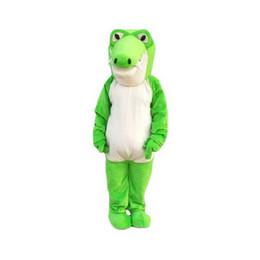 Costumi da coccodrillo online-Mascotte verde coccodrillo personaggio dei cartoni animati per adulti taglia Longteng (TM) 02