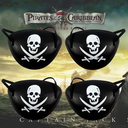 Wholesale halloween kids crafts - Pirate Eye Patch and pirates hats Skull Crossbone Halloween Party Favor Bag Costume Kids Halloween Toy Craft Gifts