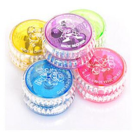 Wholesale Spinning Glow - Lights Spinning Toys for Kids LED Finger Balls YoYo Ball Luminous New Novelty LED Skill Glow Toy Children Clutch Toys for Kids Party