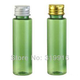 Wholesale Aluminum Vials - Free shipping 30ml green empty plastic vial , travel bottles ,Mini container with aluminum cap 100pc lot