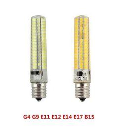 Wholesale G4 Dimmer - 50x New Super bright silicone LED light Dimming 9W G4 G9 E11 E12 E14 E17 BA15d B15 Corn lamp 110 220V 136leds 5733 SMD Led bulb