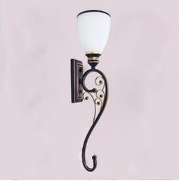 Lampes murales de travail en Ligne-Loft Led Applique Éclairage Éclairage Vintage Allée Couloir lampes de chevet balcon en fer forgé Applique Murale Stair Sconce