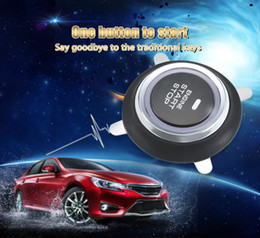 Wholesale 12v Start Push - 9002 Car Engine Push Start Button RFID Lock Ignition Starter Keyless Entry Anti-theft Oil Detector Remote Transmitter 202576701