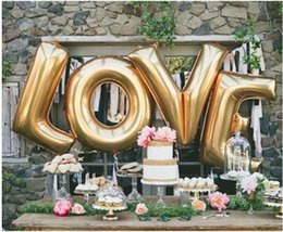 "Wholesale Large Letter Foil Balloons - 40"" A - Z Full Alphabet air balloon Party Wedding Decoration Mylar Foil Balloon large Large Letter"