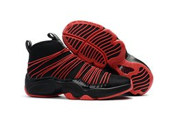 Wholesale threading gloves - Mens Athletic The Glove Gary Payton Air Zoom Cabos Flight Black Gold Basketball Sport Shoes US7-US12