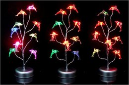 Wholesale Synthetic Flowers L - Variety shape colorful luminous crystal flower tree | USB battery dual silver glitter tree