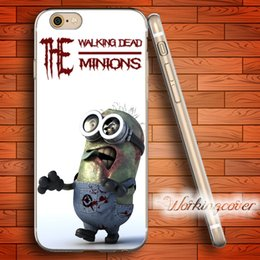 Wholesale Minion Iphone 4s Silicone Case - Capa Minions Zombie Skull Soft Clear TPU Case for iPhone 7 6 6S Plus 5S SE 5 5C 4S 4 Case Silicone Cover.