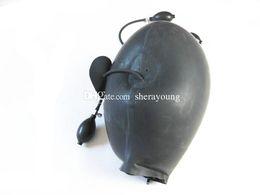 Wholesale Latex Sex Masks - BDSM Adult Sex Toys for Women Inflatable Latex Head Hoods Mask Bondage Gear Restraints Ball Gag Products Black
